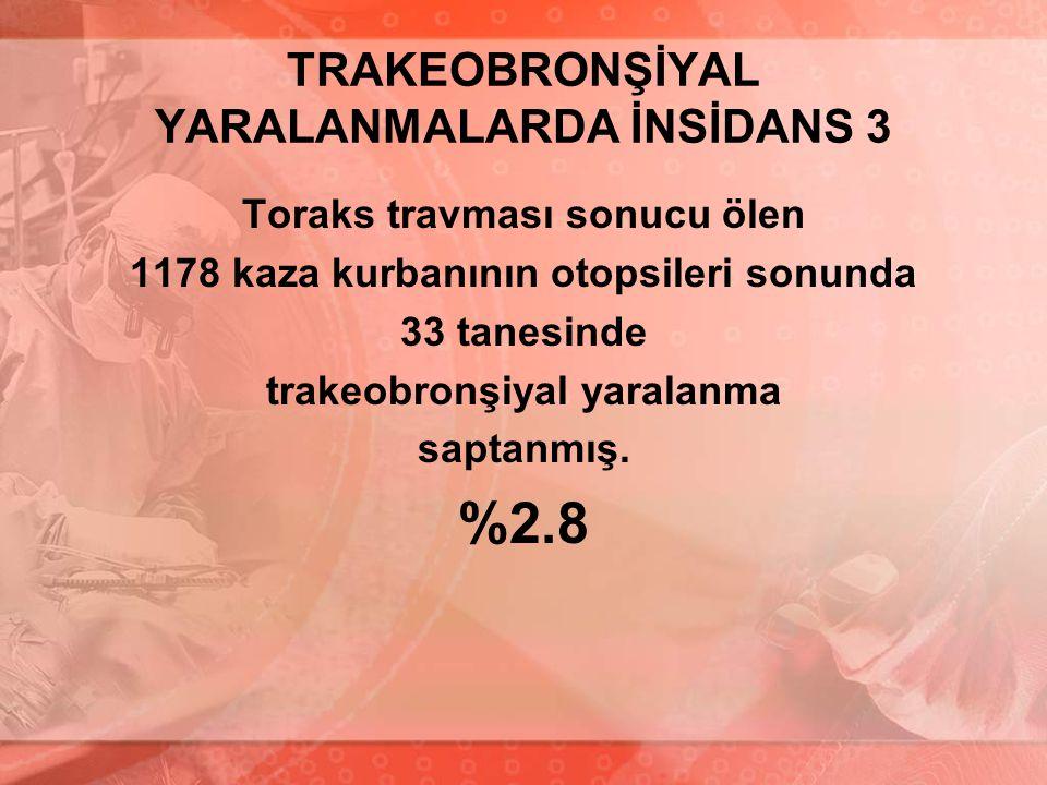 TRAKEOBRONŞİYAL YARALANMALARDA İNSİDANS 3