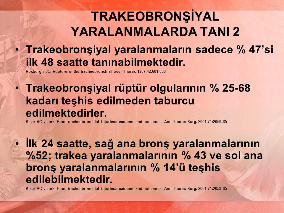 TRAKEOBRONŞİYAL YARALANMALARDA TANI 2