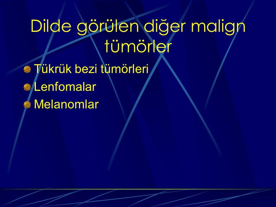 Dilde görülen diğer malign tümörler