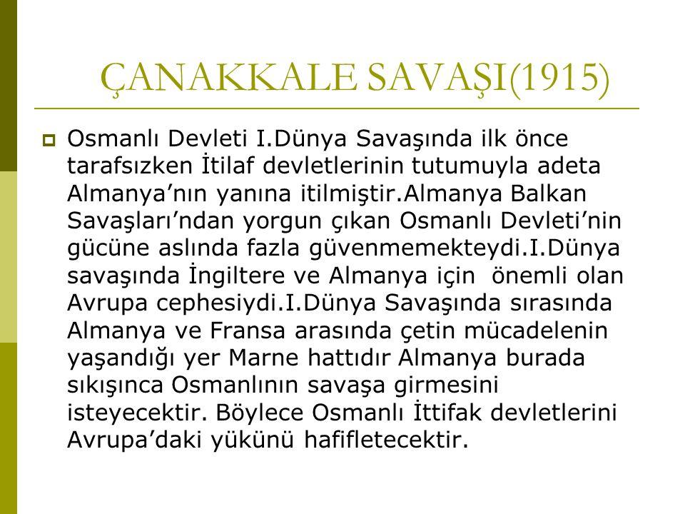 ÇANAKKALE SAVAŞI(1915)