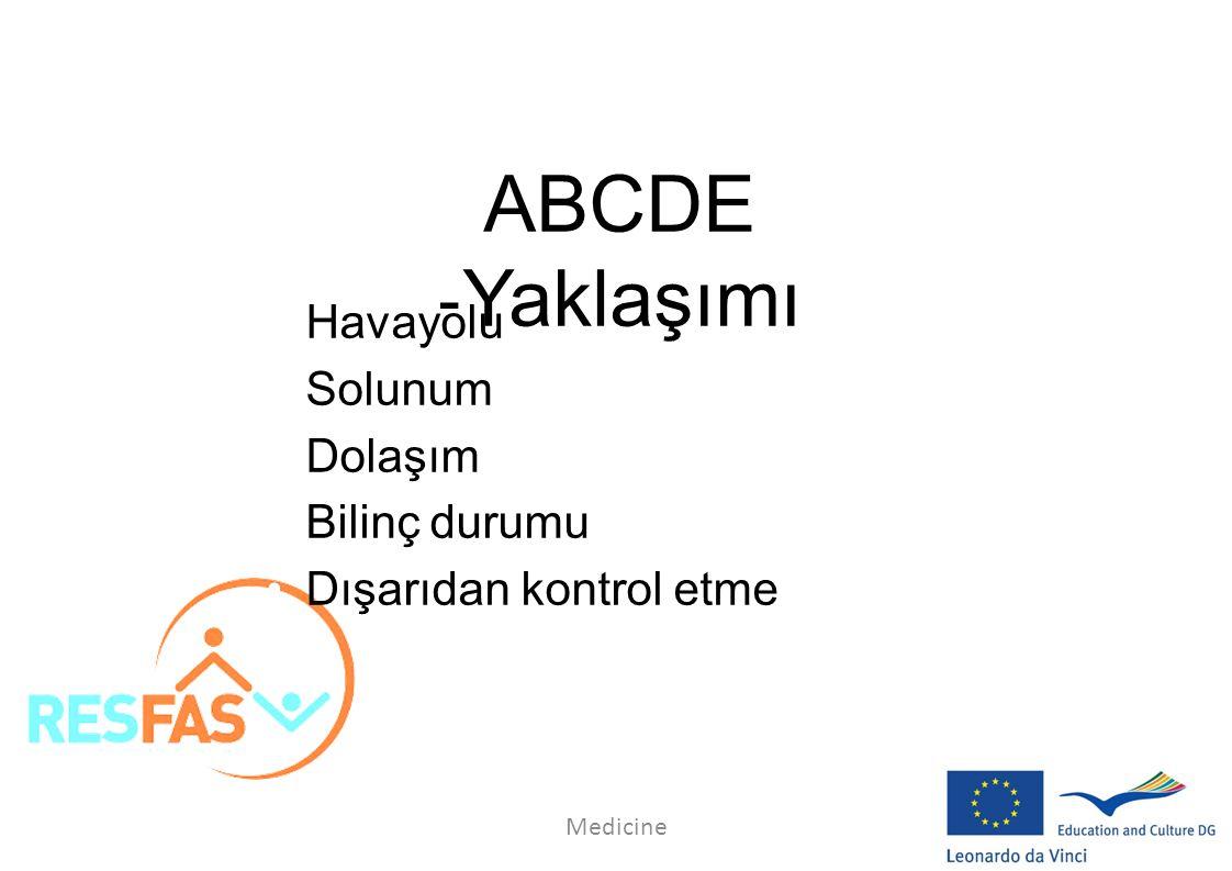 ABCDE ‐Yaklaşımı Havayolu Solunum Dolaşım Bilinç durumu