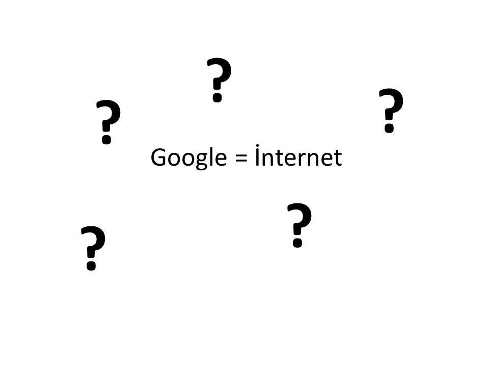 Google = İnternet