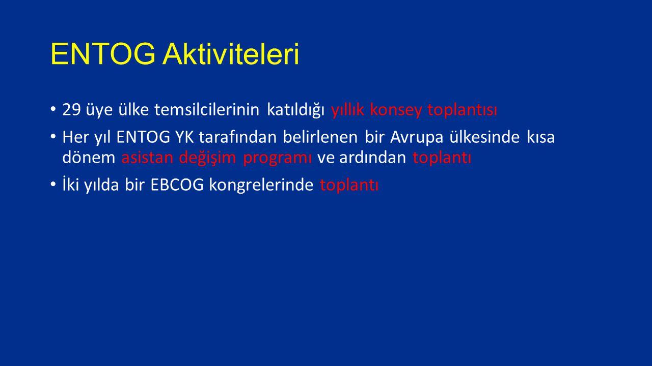 ENTOG Aktiviteleri 29 üye ülke temsilcilerinin katıldığı yıllık konsey toplantısı.
