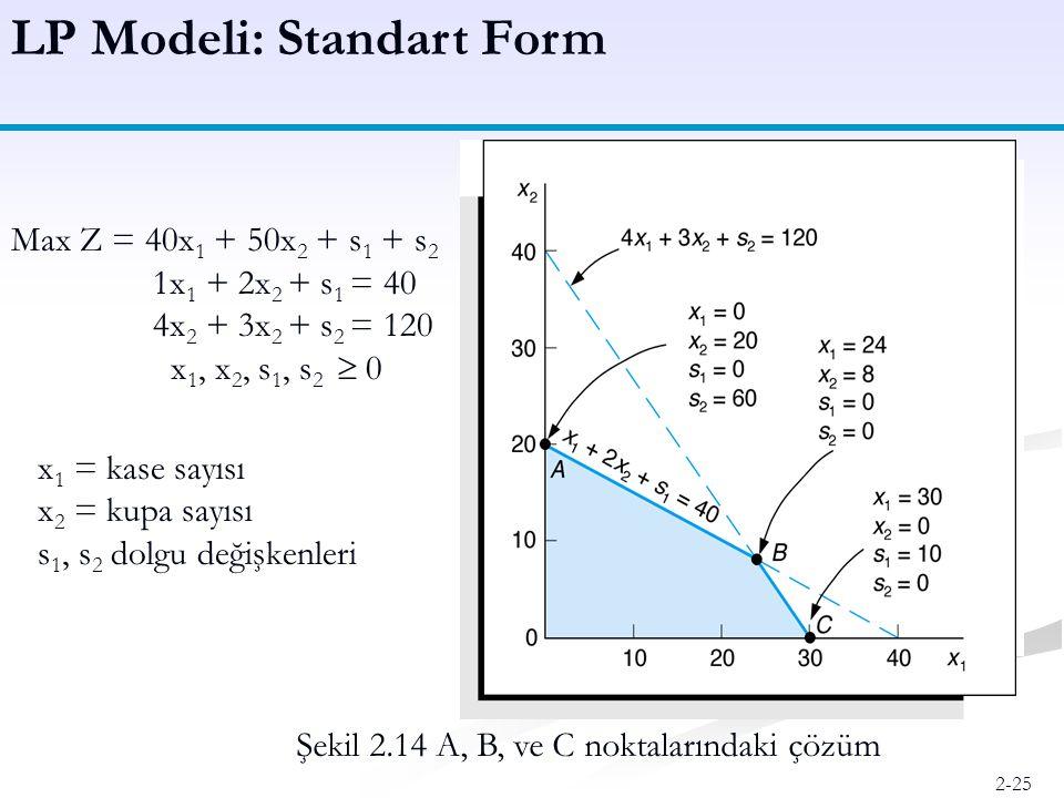 LP Modeli: Standart Form
