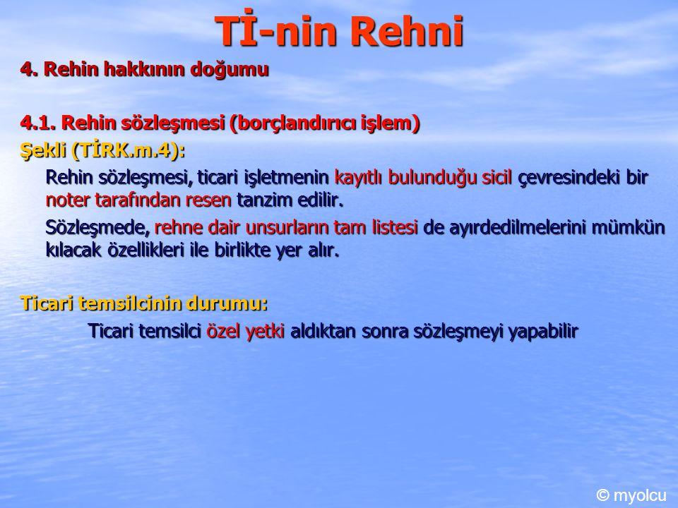 Tİ-nin Rehni 4. Rehin hakkının doğumu