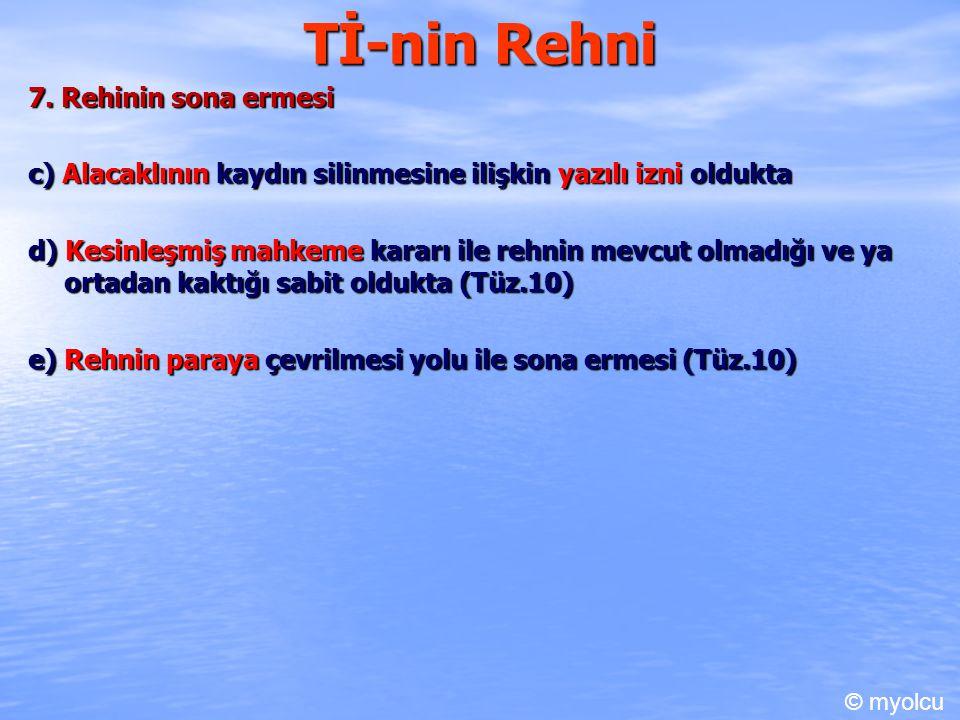 Tİ-nin Rehni 7. Rehinin sona ermesi