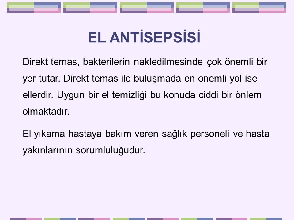 EL ANTİSEPSİSİ