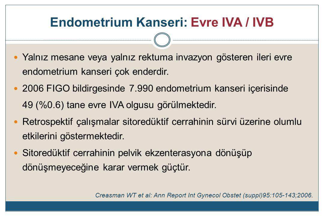 Endometrium Kanseri: Evre IVA / IVB