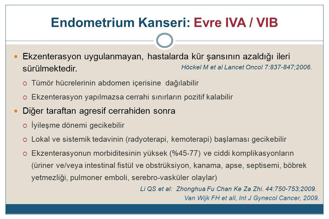 Endometrium Kanseri: Evre IVA / VIB