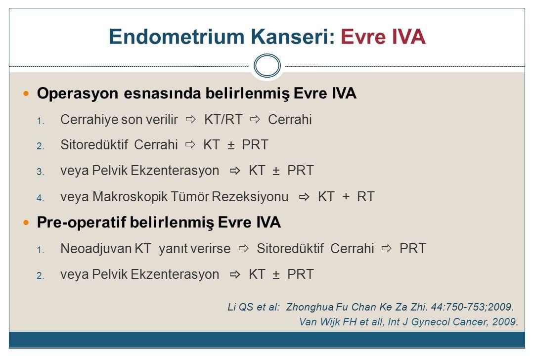 Endometrium Kanseri: Evre IVA