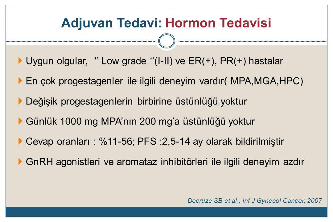 Adjuvan Tedavi: Hormon Tedavisi