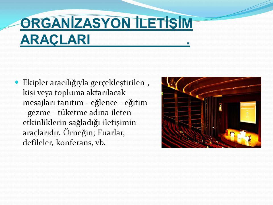 ORGANİZASYON İLETİŞİM ARAÇLARI .
