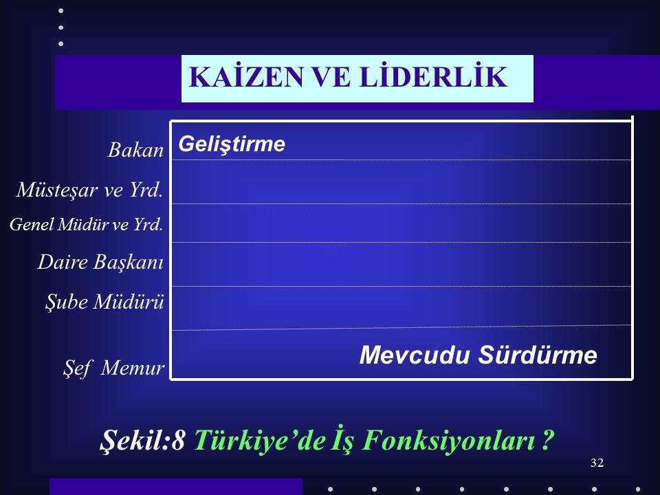 Şekil:8 Türkiye'de İş Fonksiyonları