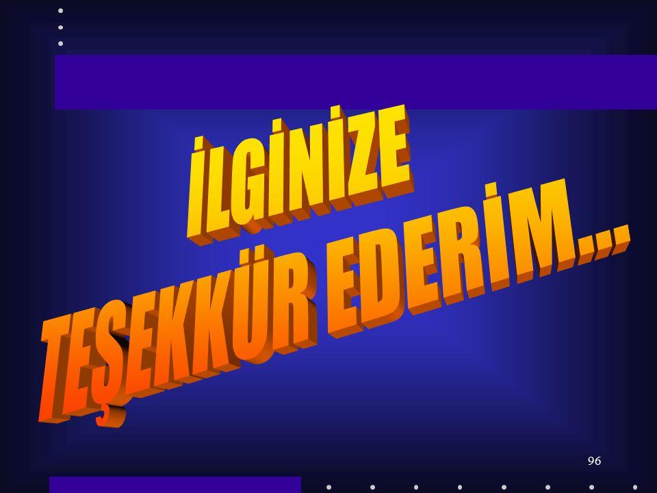 İLGİNİZE TEŞEKKÜR EDERİM...