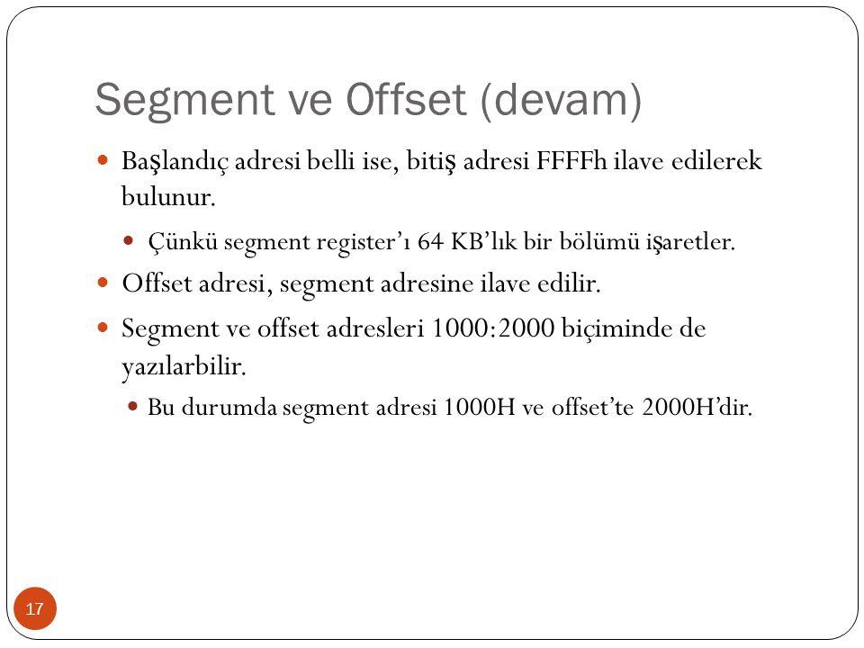 Segment ve Offset (devam)