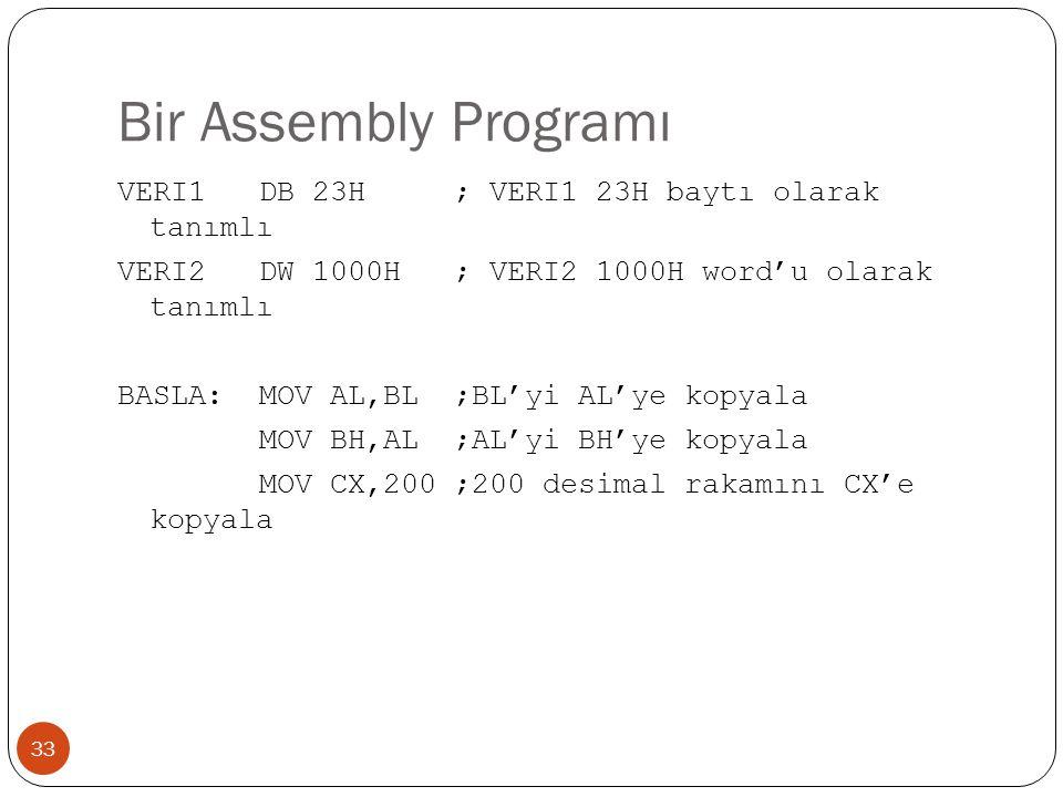 Bir Assembly Programı