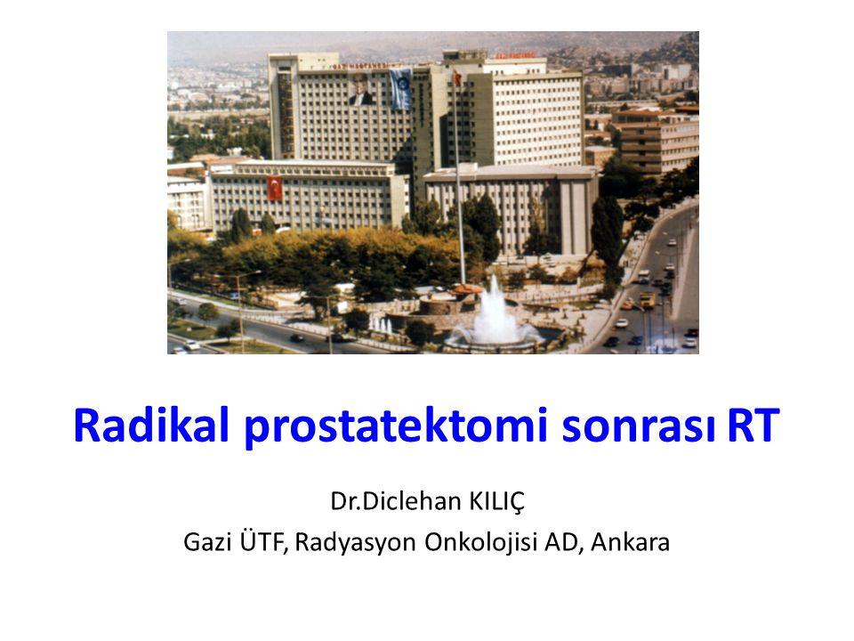 Radikal prostatektomi sonrası RT