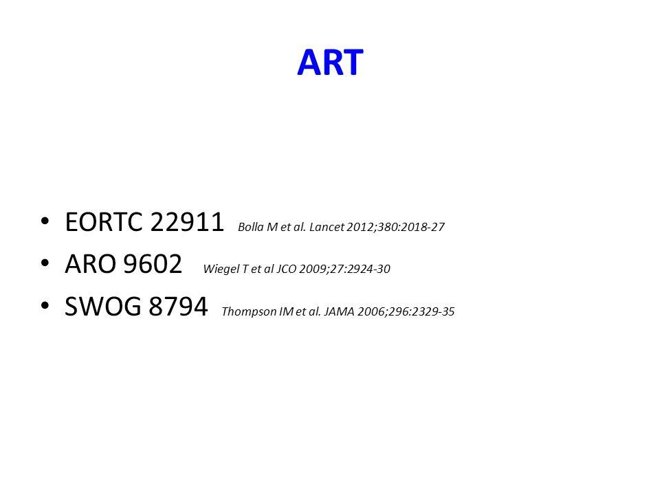 ART EORTC 22911 Bolla M et al. Lancet 2012;380:2018-27