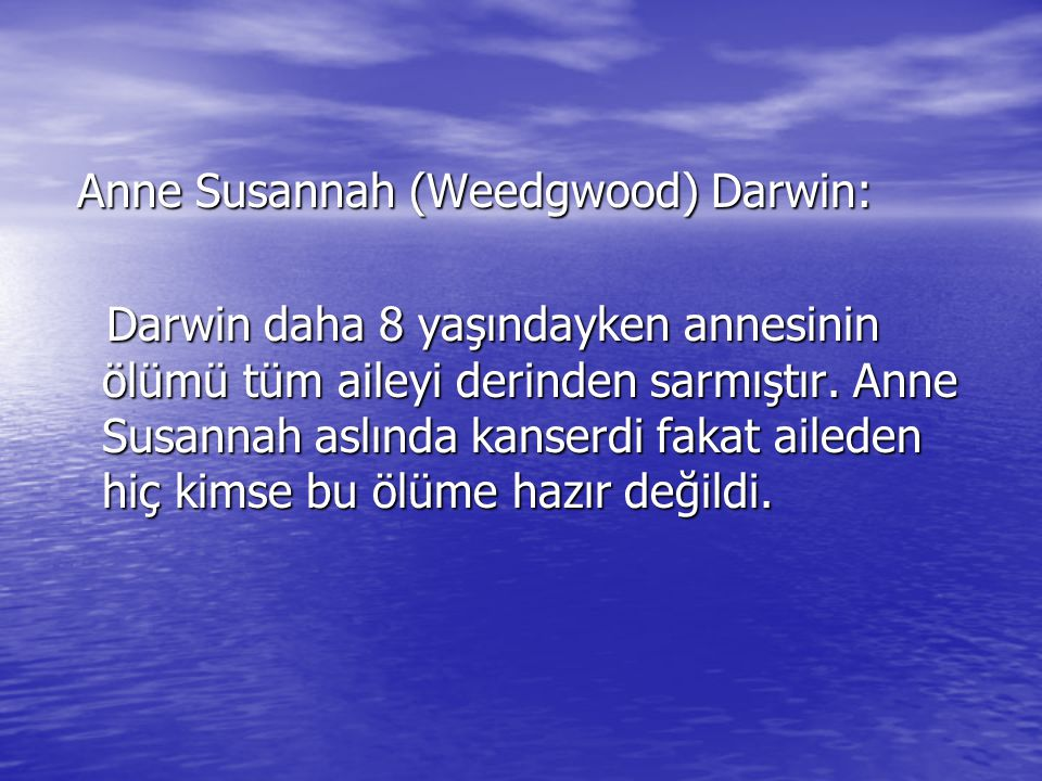 Anne Susannah (Weedgwood) Darwin: