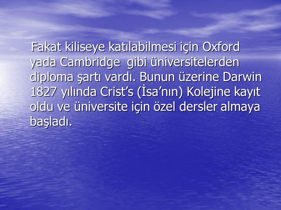 Fakat kiliseye katılabilmesi için Oxford yada Cambridge gibi üniversitelerden diploma şartı vardı.