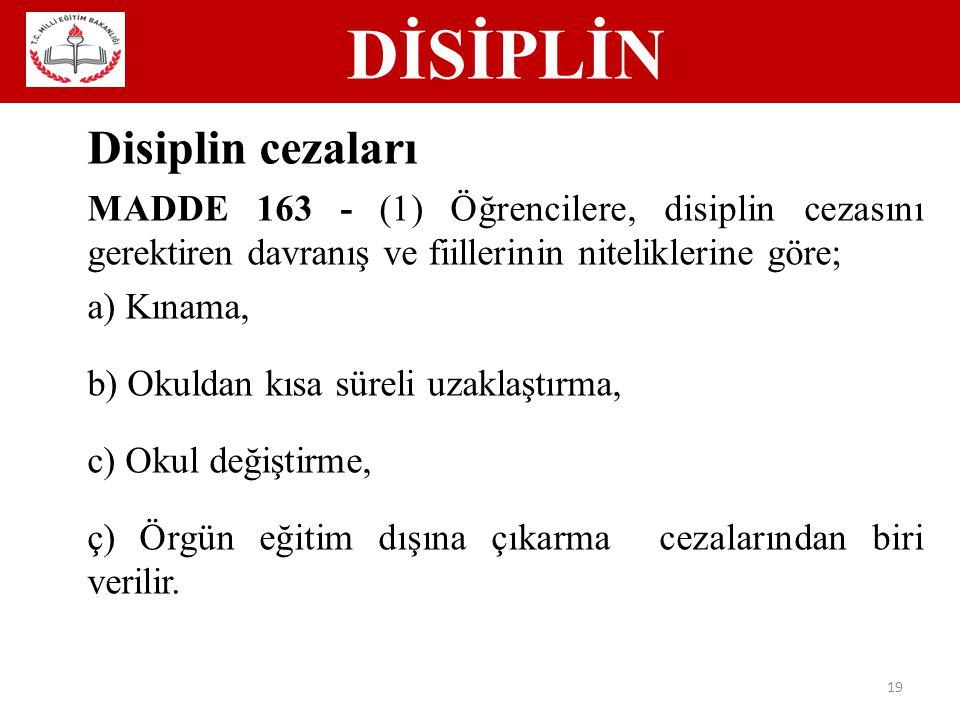 Disiplin cezaları DİSİPLİN