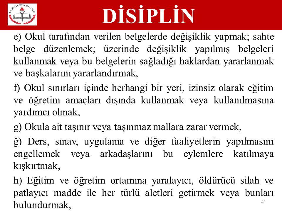 DİSİPLİN