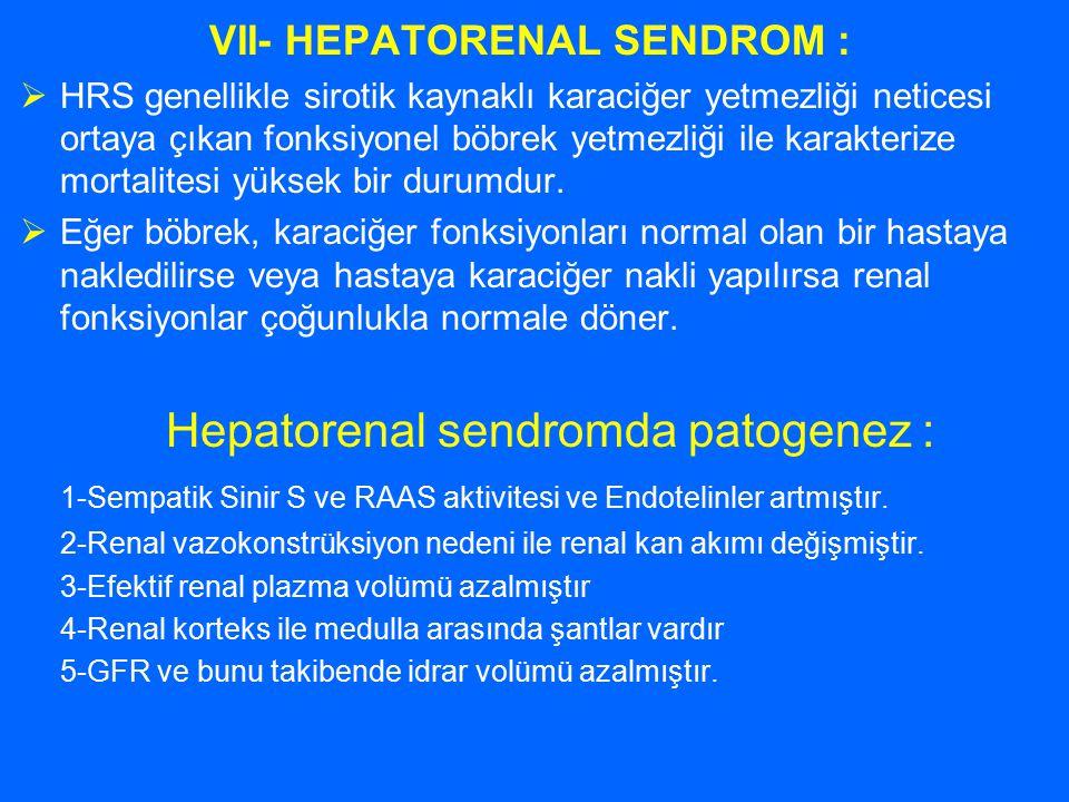 VII- HEPATORENAL SENDROM :