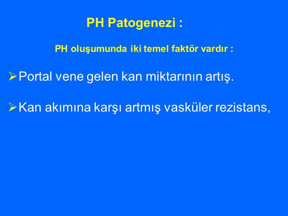 PH oluşumunda iki temel faktör vardır :