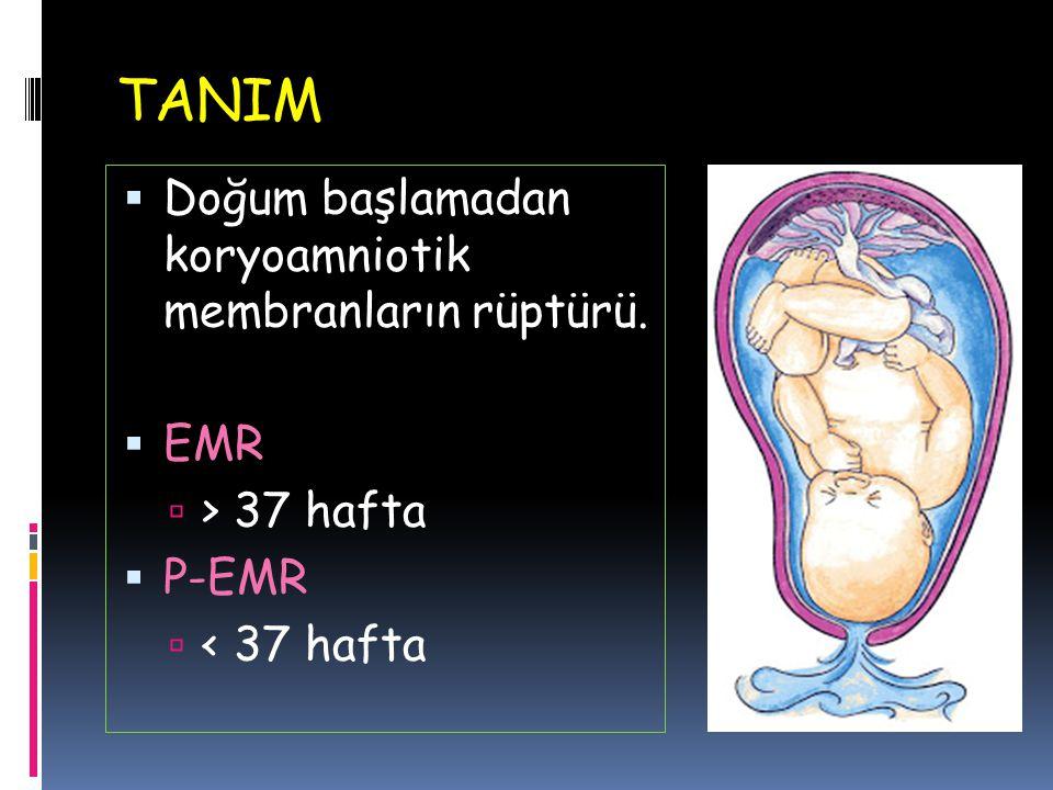 TANIM Doğum başlamadan koryoamniotik membranların rüptürü. EMR