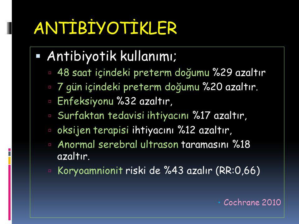 ANTİBİYOTİKLER Antibiyotik kullanımı;
