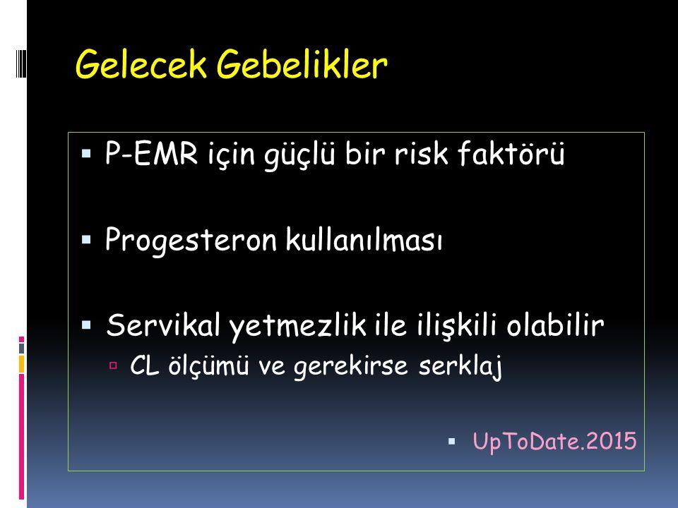 Gelecek Gebelikler P-EMR için güçlü bir risk faktörü