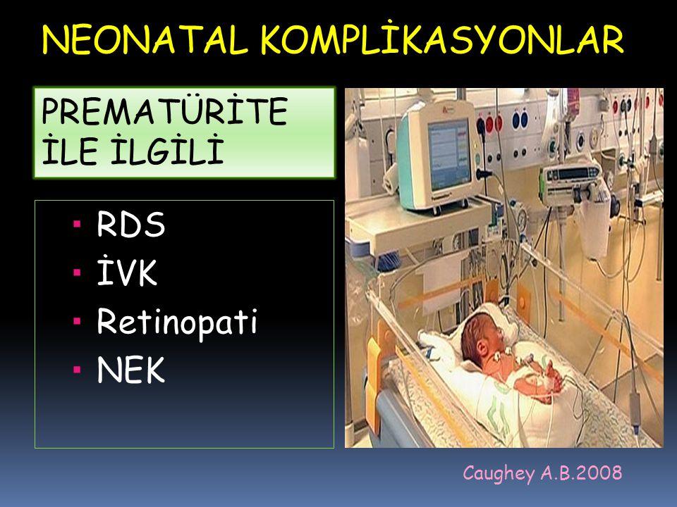 NEONATAL KOMPLİKASYONLAR