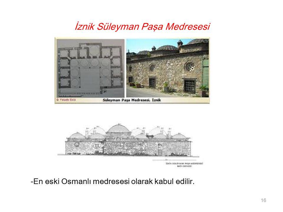 İznik Süleyman Paşa Medresesi