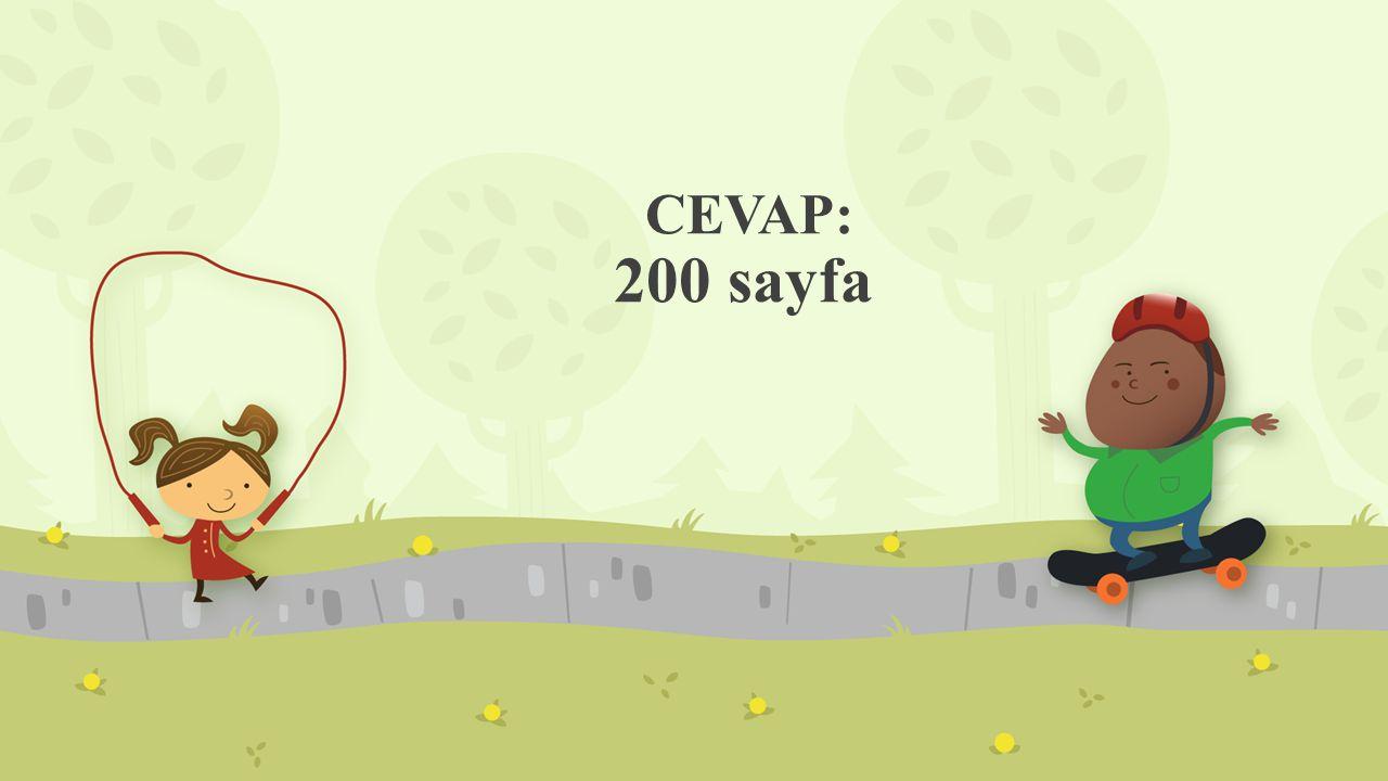 CEVAP: 200 sayfa