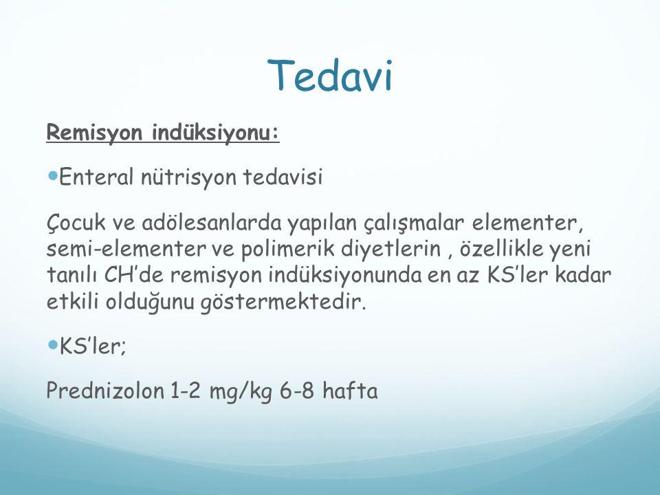 Tedavi Remisyon indüksiyonu: Enteral nütrisyon tedavisi