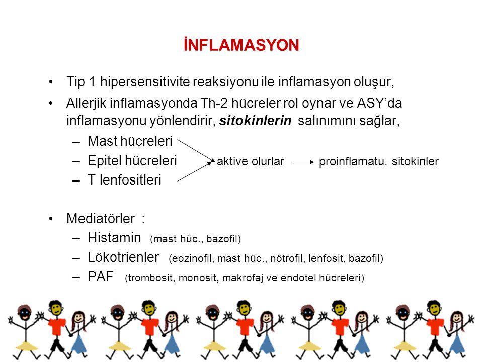 İNFLAMASYON Tip 1 hipersensitivite reaksiyonu ile inflamasyon oluşur,