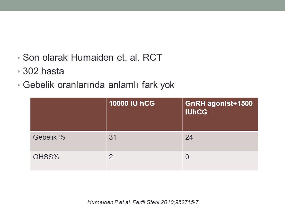 Son olarak Humaiden et. al. RCT 302 hasta