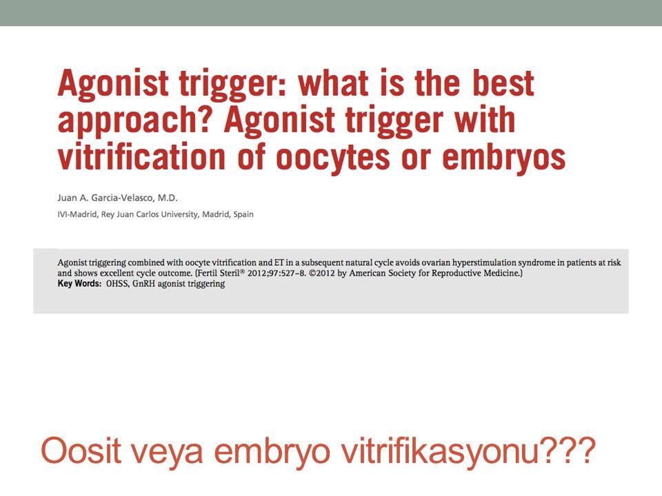 Oosit veya embryo vitrifikasyonu
