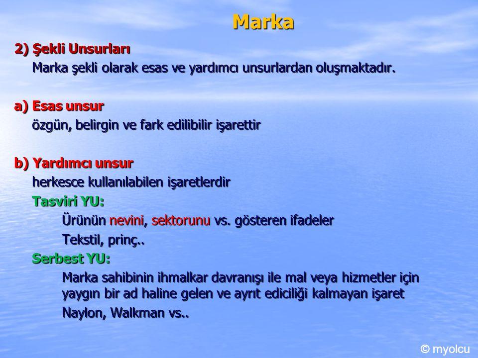 Marka 2) Şekli Unsurları