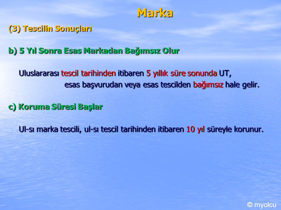 Marka (3) Tescilin Sonuçları