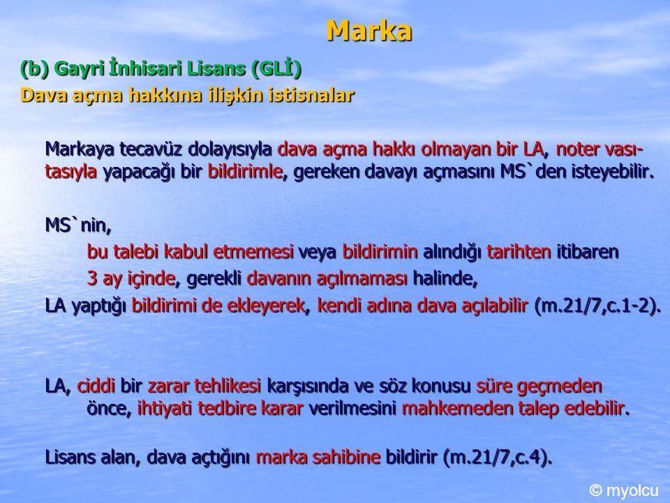 Marka (b) Gayri İnhisari Lisans (GLİ)
