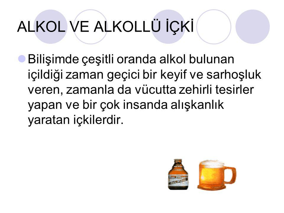 ALKOL VE ALKOLLÜ İÇKİ