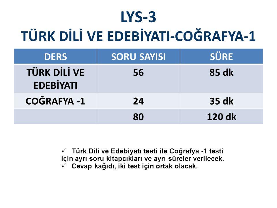 LYS-3 TÜRK DİLİ VE EDEBİYATI-COĞRAFYA-1