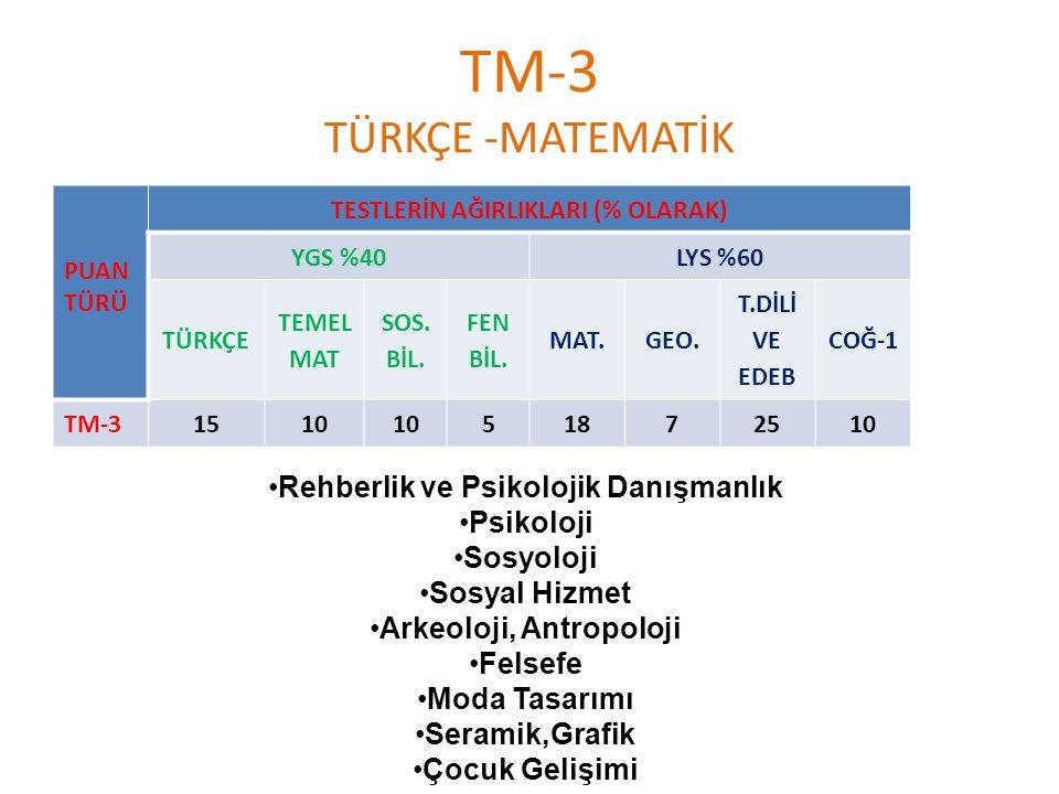TM-3 TÜRKÇE -MATEMATİK Rehberlik ve Psikolojik Danışmanlık Psikoloji