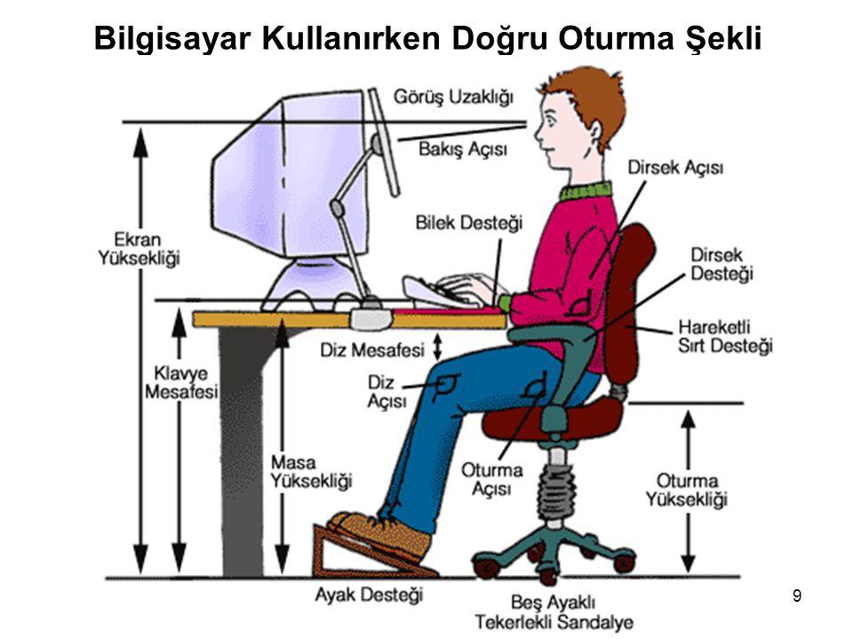 Bilgisayar Kullanırken Doğru Oturma Şekli