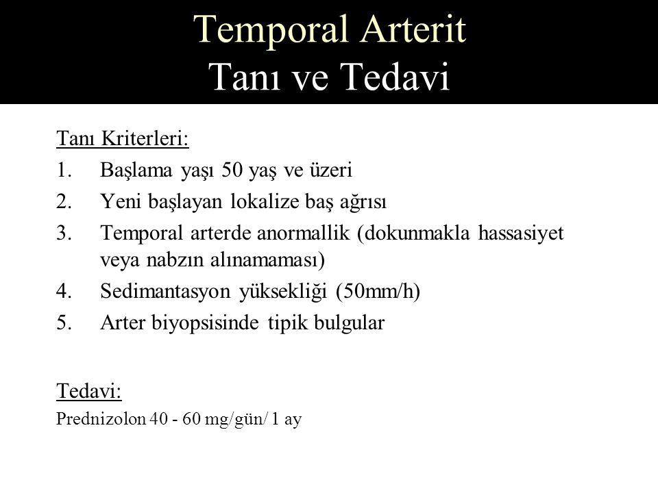 Temporal Arterit Tanı ve Tedavi