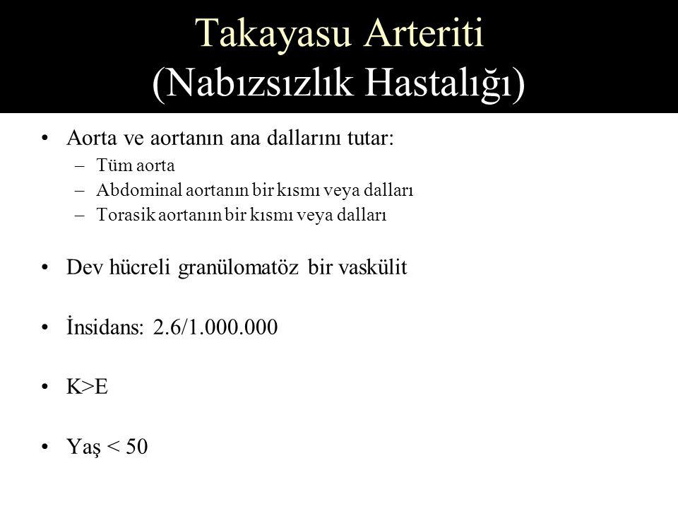 Takayasu Arteriti (Nabızsızlık Hastalığı)
