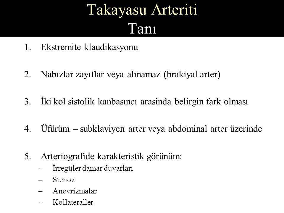 Takayasu Arteriti Tanı