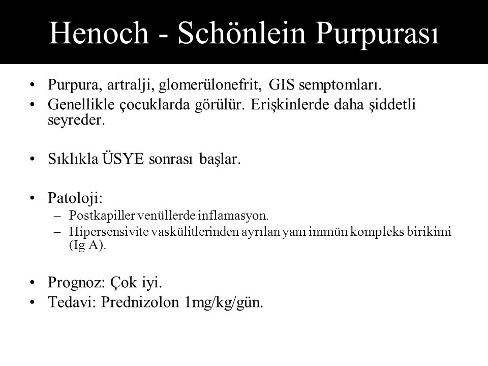 Henoch - Schönlein Purpurası