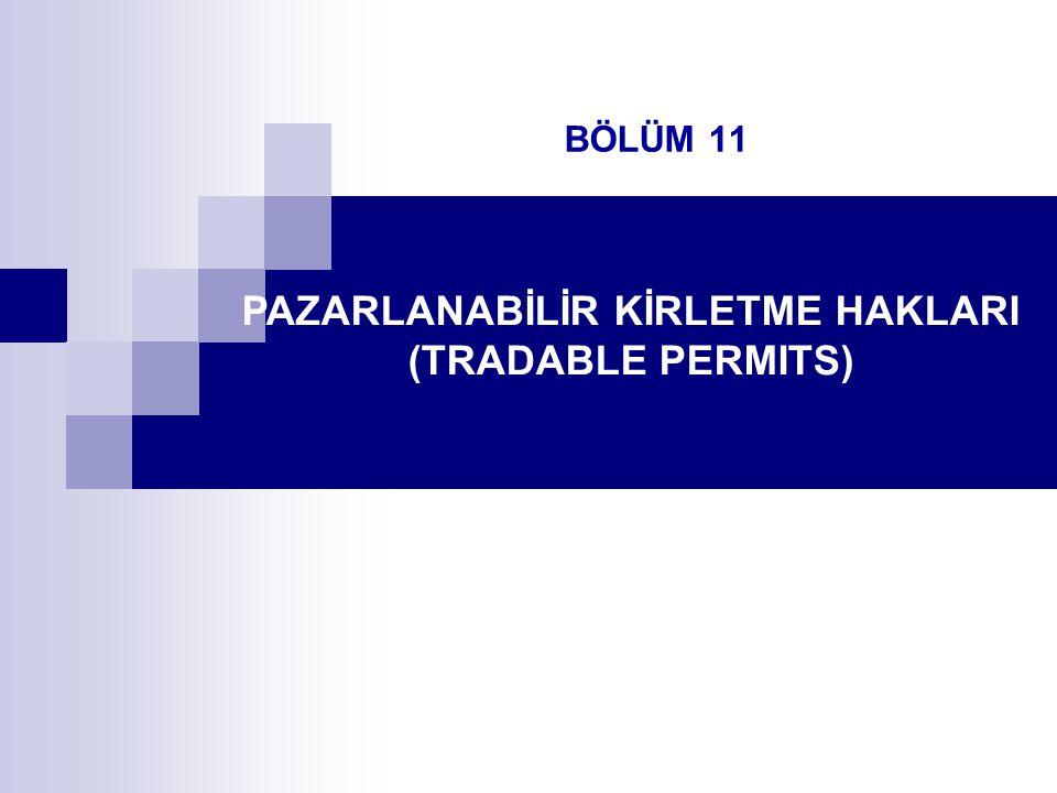 PAZARLANABİLİR KİRLETME HAKLARI (TRADABLE PERMITS)